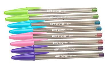 Bolígrafos Bic Cristal Fun Large 6+2 unidades