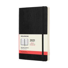 Agenda anual Moleskine Classic Large 2021 Inglés Día Negro