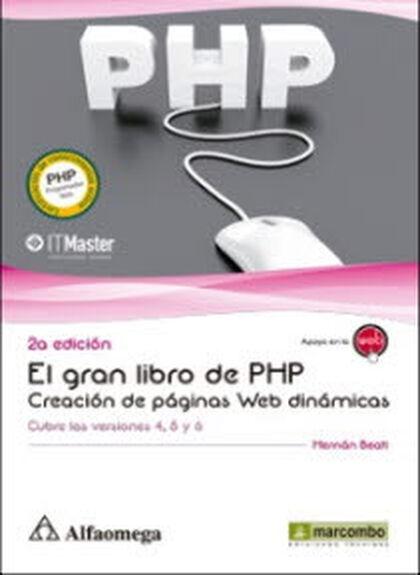 Gran libro de PHP: creación de páginas web dinámicas