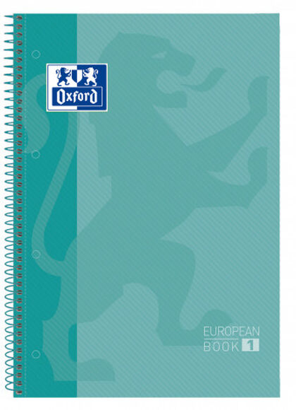 Cuaderno espiral Oxford Classic Europeanbook 1 A4+ 5x5 80F Lila