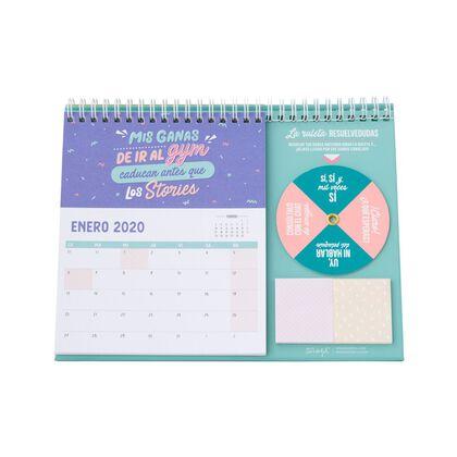 Calendario Mr.Wonderful Sobremesa 2020 Arraslo más .. Español