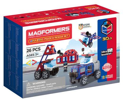 Juego de construcción Magformers Vehículos rescate