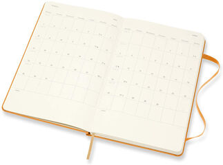 Agenda Moleskine  Cuaderno Semana Vistal L Semana Vista Inglés Naranja (13x21 cm)