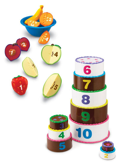 Juego simbólico Learning Resources Fruto bowl con números