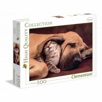 Puzzle Clementoni Animales perro y gatito