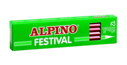 Lápiz de colores Alpino Festival 12U Verde