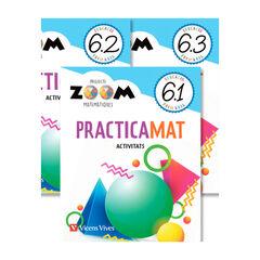 MATEMATIQUES 6 QUADERNS PRACTICAMAT TRIM (ZOOM) Vicens Vives 9788468266770