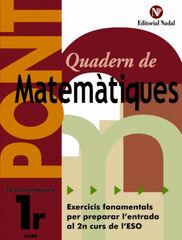 MATEMÀTIQUES PONT 1r ESO Nadal 9788478874972