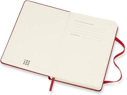 Agenda Moleskine 2020 - 2021 18 meses Pocket Semana Vista Inglés Rojo (9x14 cm)