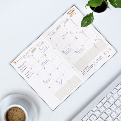 Planificador Finocam M/V + Not 2021 Gris