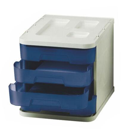 Cómoda Abacus 4 cajones 5cm Azul