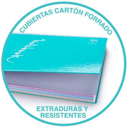 NotebookMiquelriusEmotionsEco A4 80F 80F Rosa