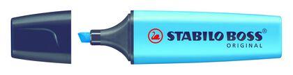Marcador fluorescente del Stabilo Azul