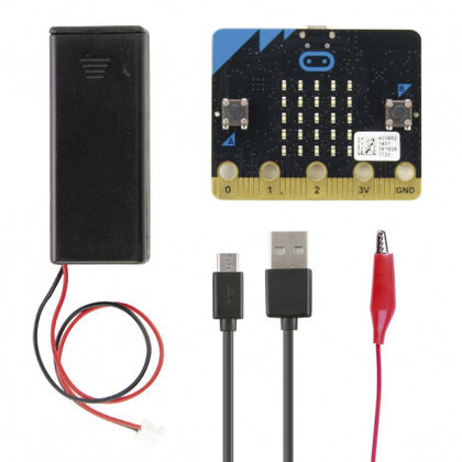 Kit Microbit + Portapiles + Cable USB Ebotics