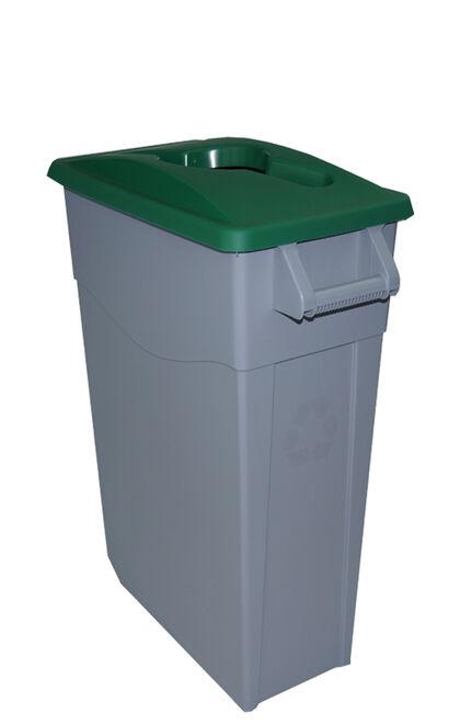 Contenedor Denox Reciclar 65L - Tapa abierta Verde