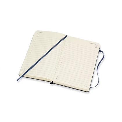 Agenda anual Moleskine Soft Large 2021 Inglés Día Azul