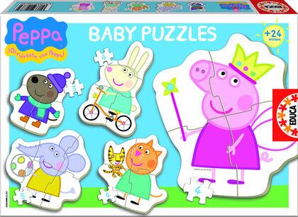 Puzzle Peppa Pig Silueta personajes 5U