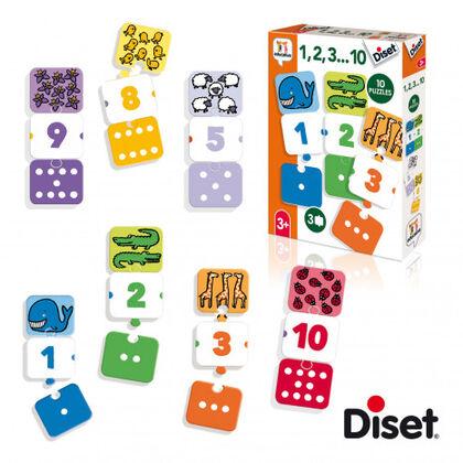 Juego de asociación Diset 1, 2, 3, ... 10 II