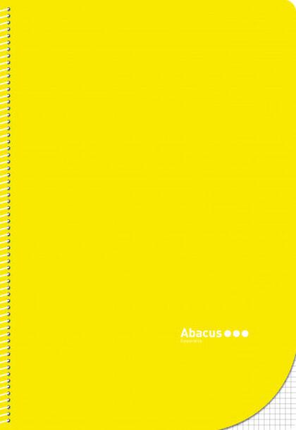 Libreta espiral Abacus Folio 4x4 con margen 50 hojas Amarillo 5U