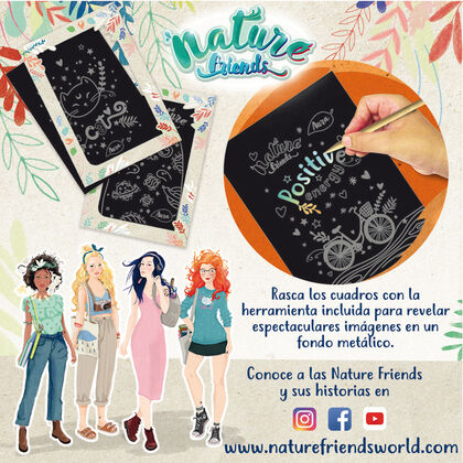 Cuadros para rascar Nature Friends