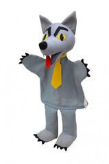 Marioneta de mano Lobo con corbata