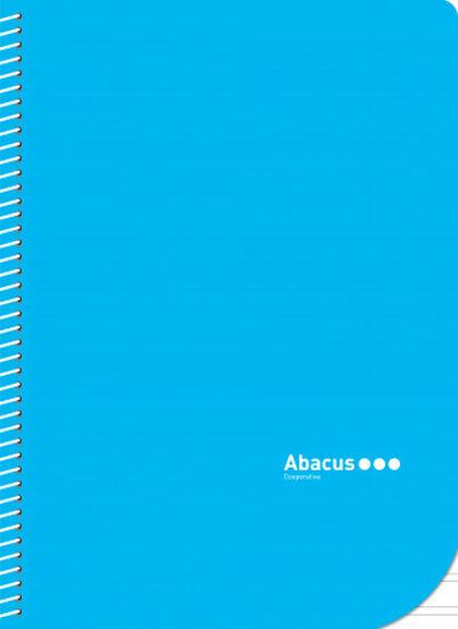 Libreta espiral Abacus A5 Pauta 2,5 con margen 50 hojas Azul 5U