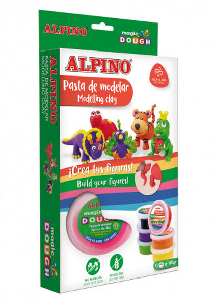 Pasta de modelar Alpino Magic Dough Funny Animals (6u x 40gr)