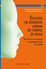 Estudios de Geografía urbana en tiempos