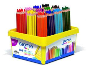 Lápices de colores Giotto Schoolpack Mega 108U