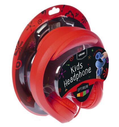 Auriculares Grixx Optimum Infantil Rojo
