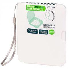 Porta mascarilla Exsecur Con cuerda 150x130 mm Blanco