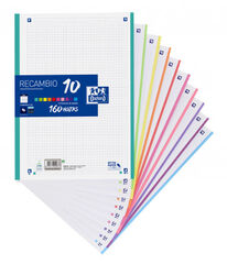 REC NOTE-BOOK A4 5X5 10 COLORS 160H