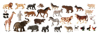 Figuras Animales salvajes/granja 30 u.