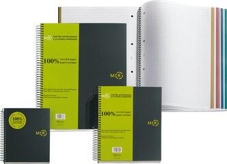 Cuaderno espiral Miquelrius A4 Reciclado 5x5 120F