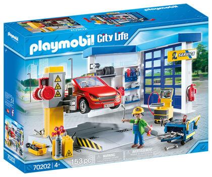 Playmobil City Life Taller Cotxes