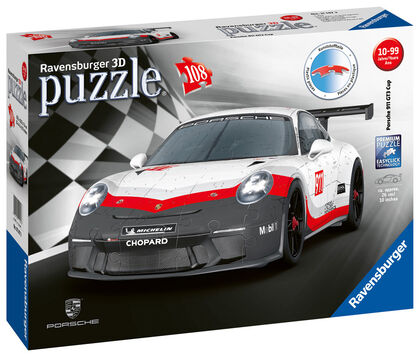 Puzzle 3D Ravensburger Porsche 911 GT3 Turbo Cup 108 piezas