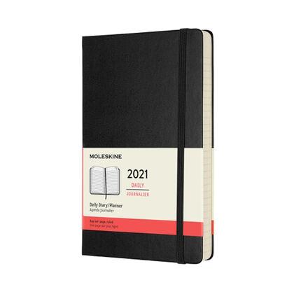 Agenda anual Moleskine Soft Large 2021 Inglés Día Negro