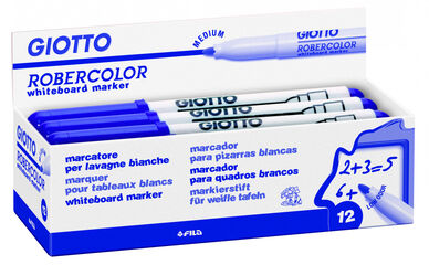 Rotulador para pizarra blanca Giotto Robercolor M Azul