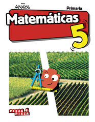 ANV E5 Matemáticas/Pieza Anaya Text 9788469843352