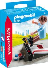 Figuras Playmobil Special Plus Deporte skater con rampa