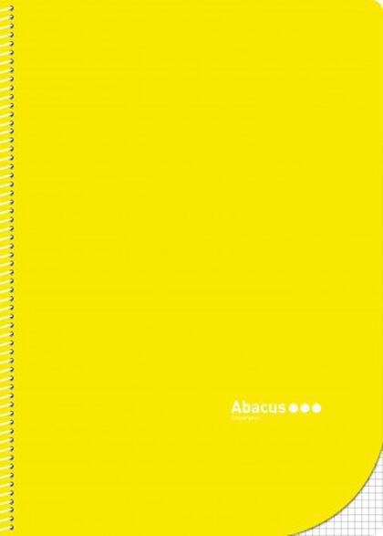 Libreta espiral Abacus A4 4x4 con margen 50 fulls Amarillo 5U