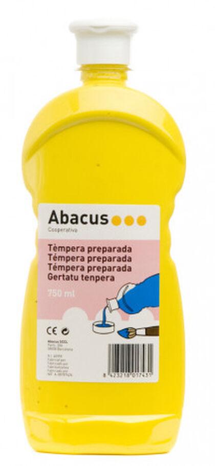Tempera prepaprada Abacus 750 ml Amarillo
