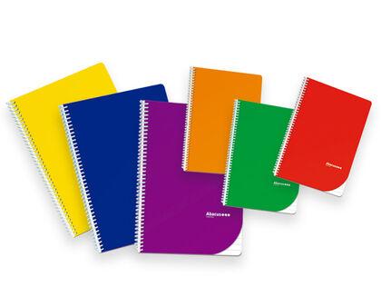 Libreta espiralAbacus A5 8x8 con margen50 hojas Surtido de Colores