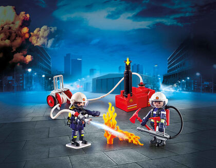 Playmobil City Action Bomberos bomba de agua