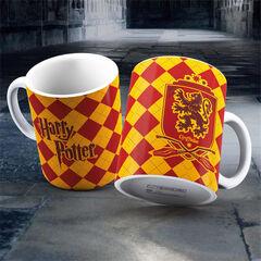 Taza de cerámica Blanca Gryffindor HP