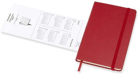 Agenda anual Moleskine Classic Pocket Horizontal 2021 Inglés Semana Rojo