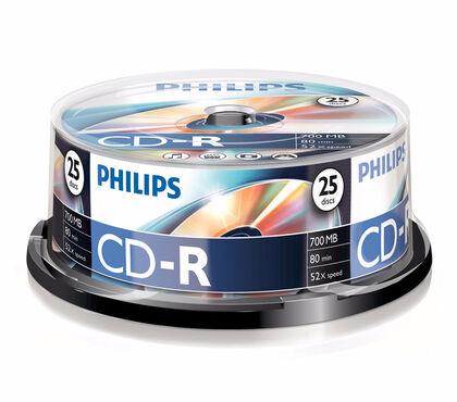 CD-R GRAVABLE PHILIPS BOBINA 25U