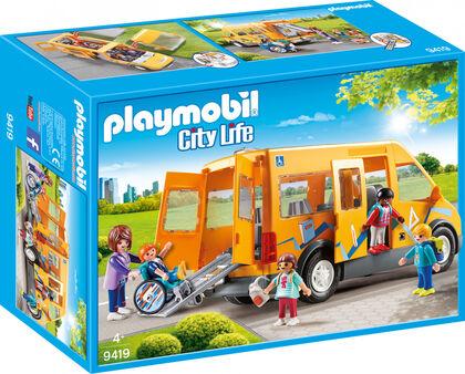Playmobil City Life Escuela autobús