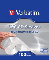 FUNDA CD/DVD VERBATIM PAPEL 100U