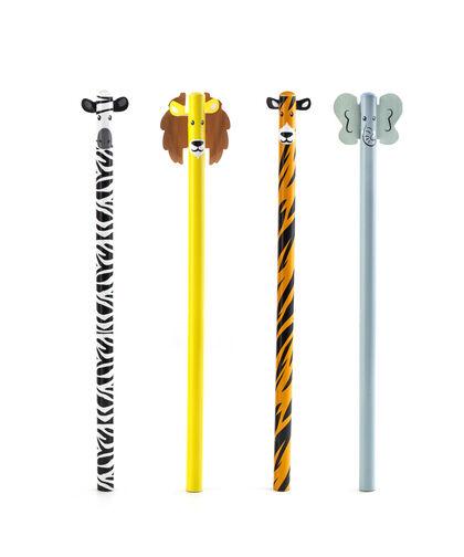 Set de lápices Kikkerland Animales Safari - 4 unidades